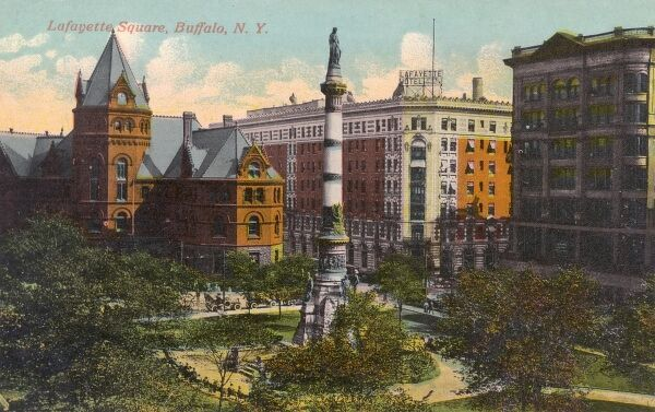Lafayette Square, Buffalo, New York State, USA Date: circa 1910s