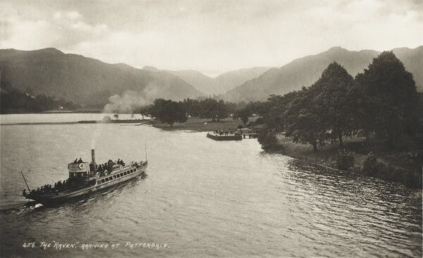 Lake District - Cumbria - The 'Raven' ferry arriving at Patterdale on Ullswater