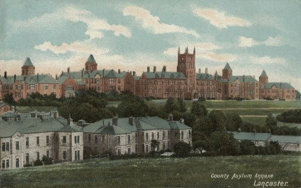The Lancaster County Lunatic Asylum was established at Quernmore Road, Lancaster Moor in 1816. It later became Lancaster County Mental Hospital and after 1948 was renamed Lancaster Moor Hospital