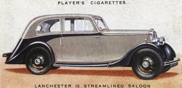My grandfather had a Lanchester : this is the so- called 'Streamlined' saloon, though it doesn't look any more streamlined than its competitors. Date: 1936
