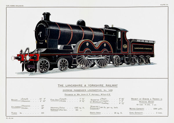 Lancashire and Yorkshire Railway express loco no 1406