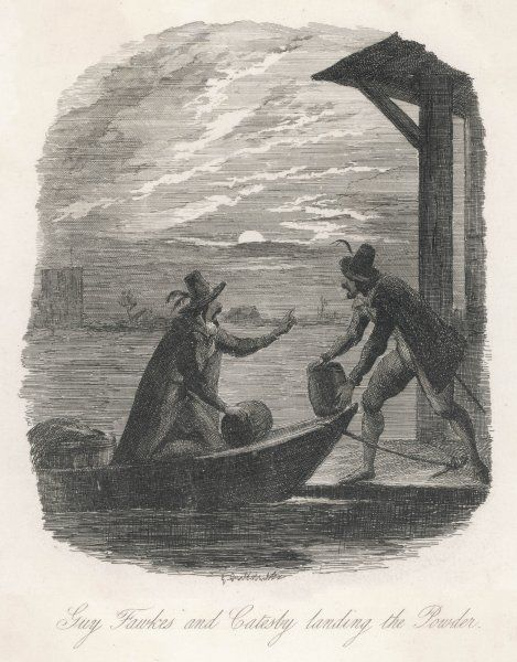 GUY FAWKES Fawkes and Catesby unload the barrels of gunpowder under cover of night
