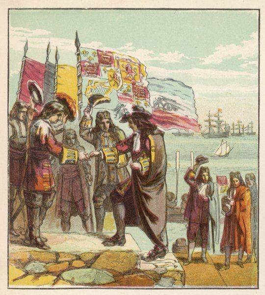 William, Prince of Orange, lands at Torbay and is greeted as the future king William III