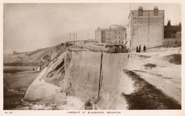 Landslip at Blackrock, Brighton, East Sussex Date: 1910