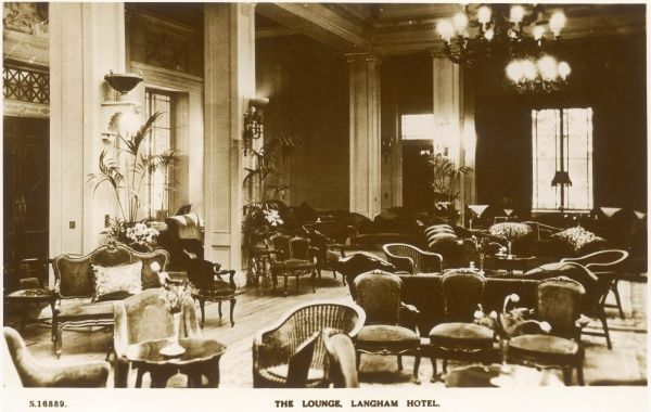 Lounge of the Langham Hotel, Portland Place, London, England