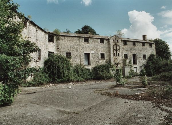 The derelict remains of the Langport Union Workhouse, Somerset Date: 2000