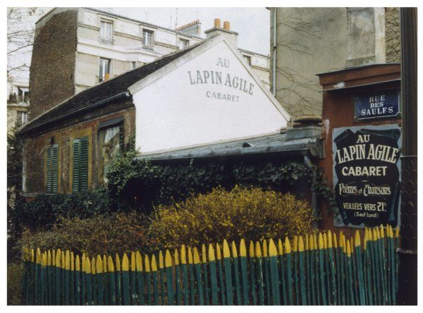 The exterior of 'Le Lapin Agile' cafe and cabaret, Paris