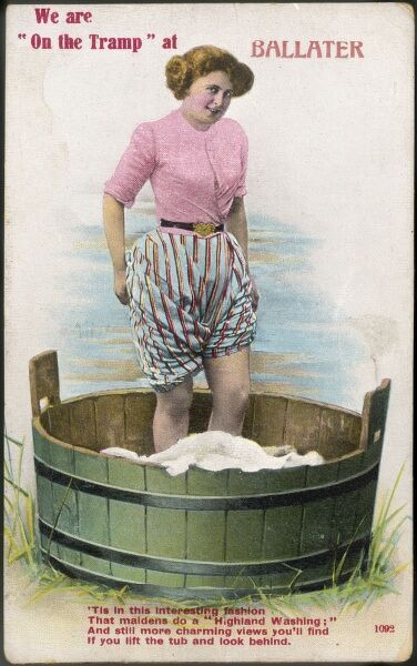 It is the firm belief of postcard makers that the Scots are too canny to waste money on a washing machine - instead they trample the washing, the way the French do grapes