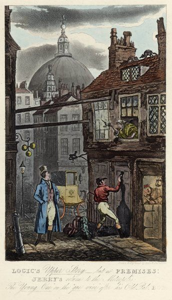 A late-night arrival at a London lodging-house, in the shadows of St. Paul's