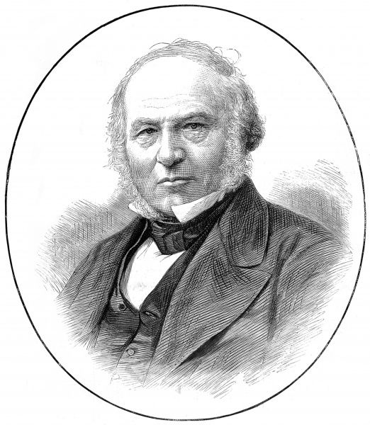 Portrait of Sir Rowland Hill (1795-1879), originator of penny postage and Post Office supremo. Date: 1879