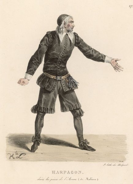 'L'Avare' - The miser Harpagaon from this comedy by Moliere