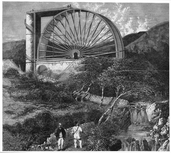 The massive Laxey water wheel, one of the most striking sights on the Isle of Man