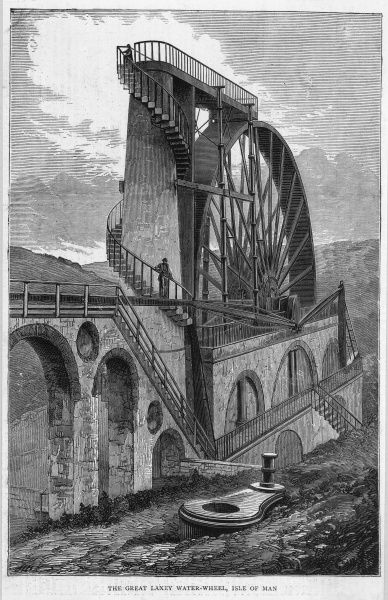 The Great Laxey water wheel, Isle of Man
