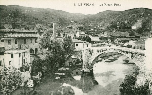 Le Vigan, France on the Arre River - The Old Bridge, built during the 11th century