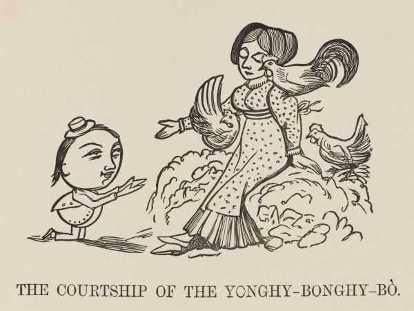 THE COURTSHIP OF THE YONGHY- BONGHY-BO Yonghy-Bonghy-Bo woos the Lady with the milk-white Hens of Dorking