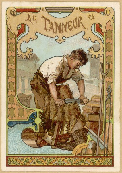 THE LEATHERWORKER ('tanneur') at work