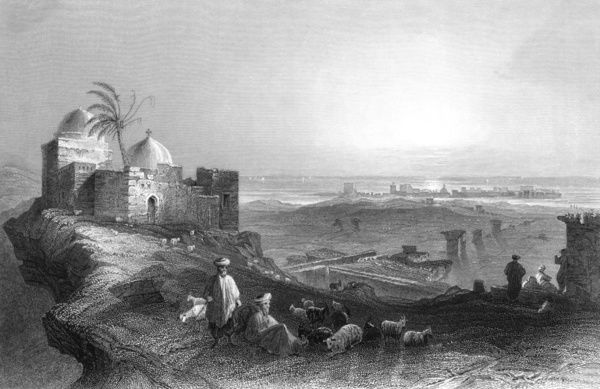 Lebanon/Tyre 1847. Tyre: general view from the mainland Date: 1847
