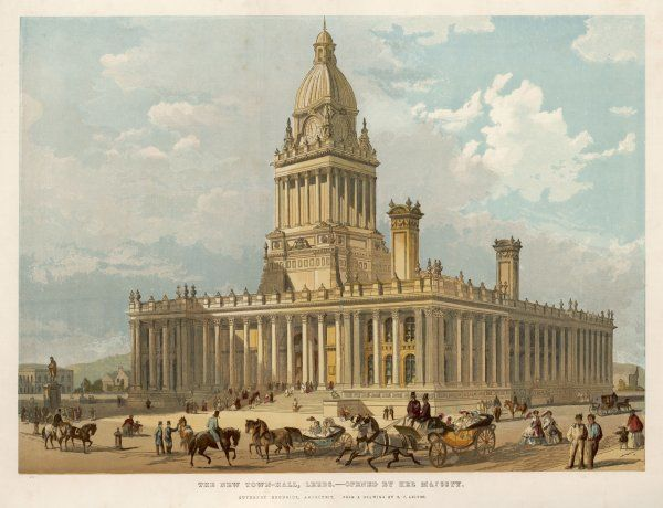 Leeds, Yorkshire: the Town Hall (architect Cuthbert Brodrick)