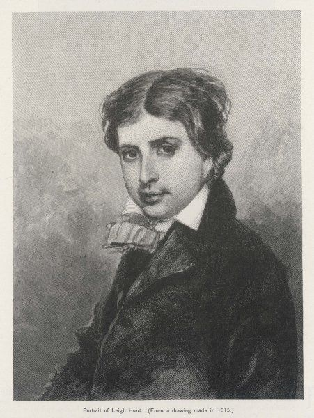 JAMES HENRY LEIGH HUNT - English poet and essayist and critic of Prince Regent