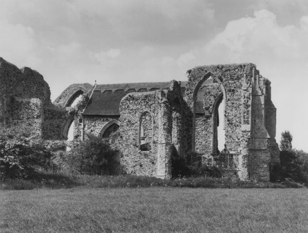 The ruins of Leiston Abbey, near Minsmere, Suffolk, England. A Premonstatension abbey, it was founded by Ranulf de Glanville, Lord Chief Justice to Henry II. Date: founded 1182
