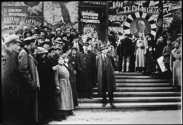 VLADIMIR LENIN Russian statesman at the May Day demonstration in 1919
