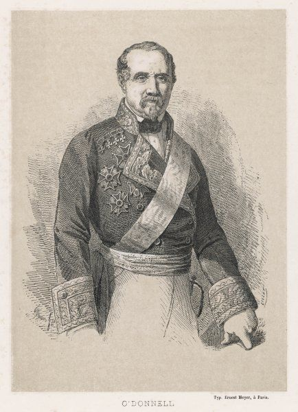 LEOPOLDO O'DONNELL CONDE DE LUCENA Spanish marshall and politician of Irish descent