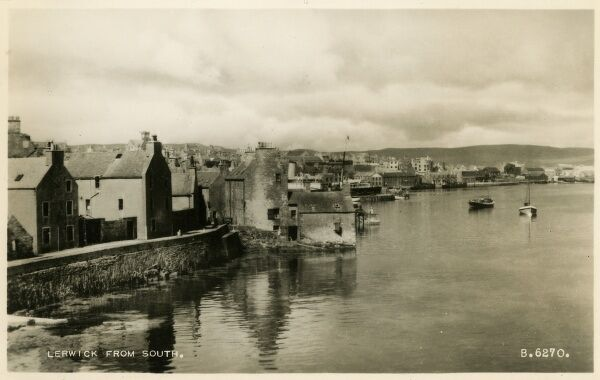 Lerwick - Shetland Islands - from the south Date: circa 1910s