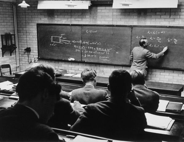 A lesson taking place at Marlborough School. Date: 1950s