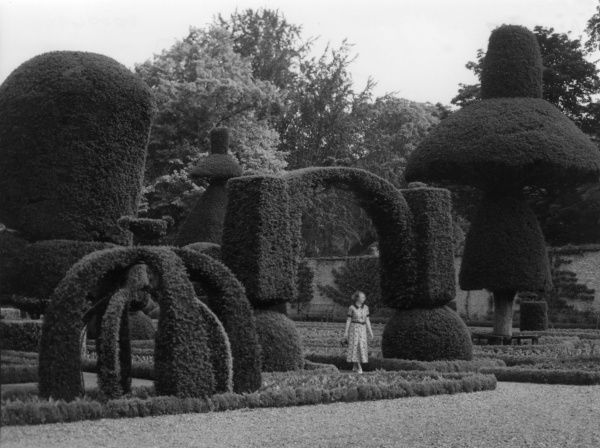 The gardens of Levens Hall, near Kendal, Westmorland (Cumbria), England, which possess what many consider to be the finest display of topiary in the country. Date: 1930s