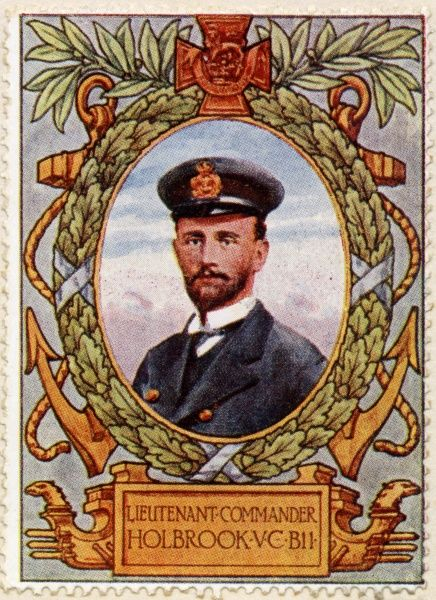 NORMAN DOUGLAS HOLBROOK VC (1888 - 1976) Royal Navy officer who won the Victoria Cross, the highest and most prestigious award for gallantry in the face of the enemy that can be awarded to British and Commonwealth forces