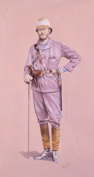 Lieutenant Carey (who was with Napoleon's son when he was killed during the Zulu War) - 2nd Rifle Brigade (Ashanti Campaign)