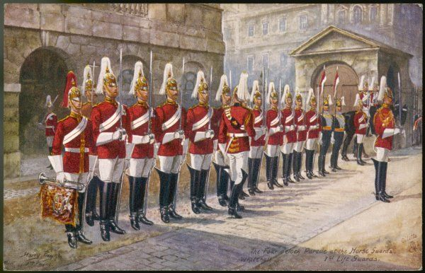 Parade of the First Life Guards in Whitehall