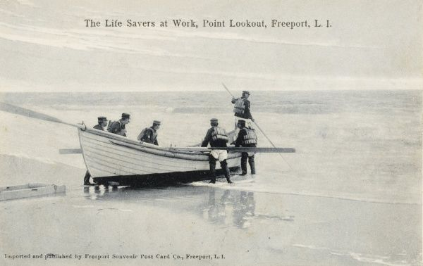 Lifeboat, Point, Lookout, Freeport, Long Island Date: c. 1910s