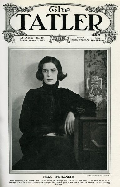 Liliane Beaumont D'Erlanger (1902 - 1945). The Baron and Baroness of D'Erlanger's daughter, following her engagement to prince Jean Louis Faucingy Lucinge on the 26th July 1923. Date: 1923