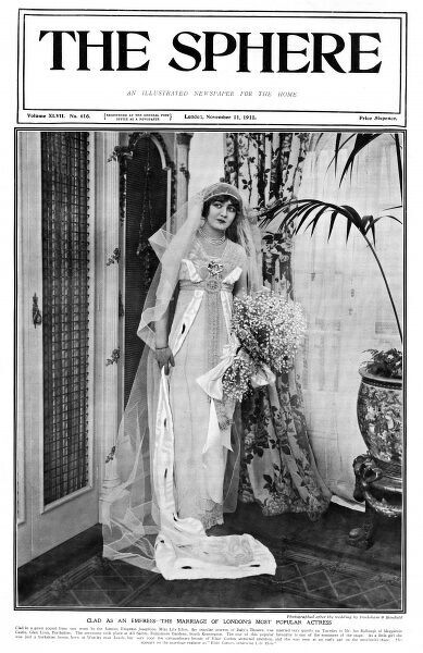 Front cover of The Sphere featuring Lily Elsie (1886 - 1962) popular theatre actress and singer an star of 'The Merry Widow&#39