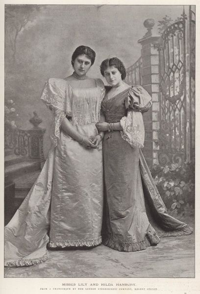 Misses Lily Hanbury (1874-1908) and Hilda Hanbury, sisters and actresses