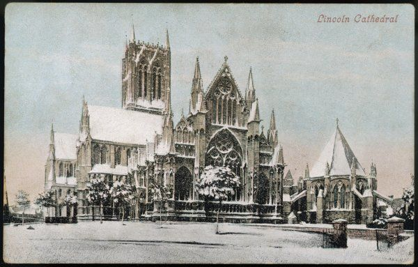 Lincoln Cathedral in the snow