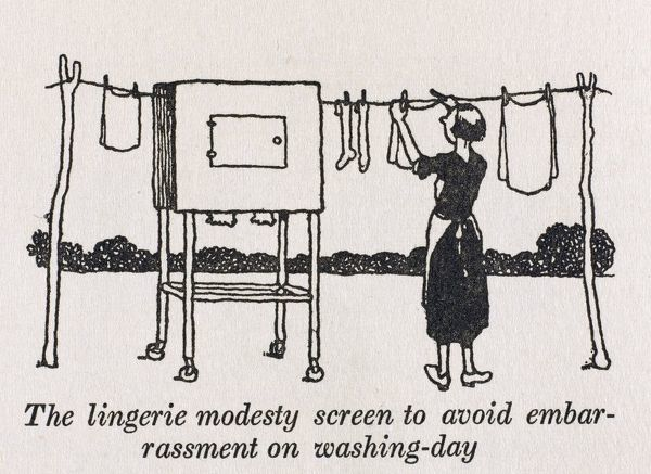 For those who don't wish to air their lingerie in public - the modesty screen can be placed to enclose such offending items from view when on the washing line
