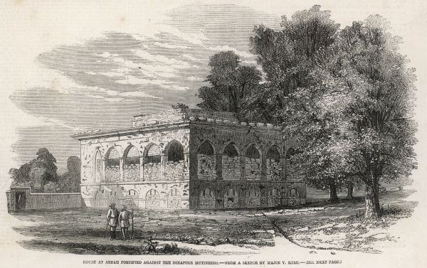 The fortified house at Arrah, refuge for a small party of British officers and 50 sikh soldiers during the Indian Rebellion of 1857