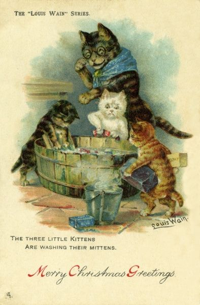 The Three Little Kittens are washing their mittens.  19th century