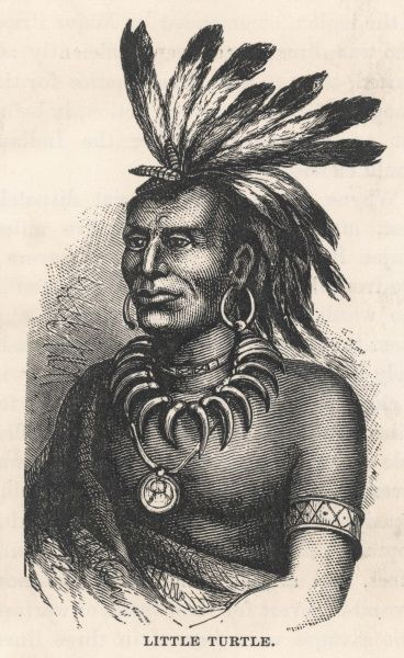 Chief of the Miami tribe who led a number of raids on settlers in the Northwest Territory. He was forced to sign the Treaty of Greenville in 1795