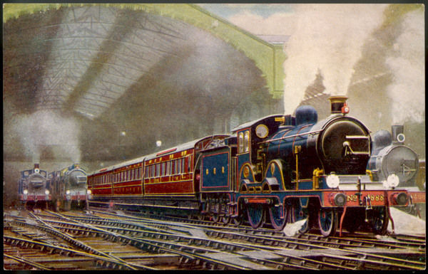 The Norfolk Coast Express of the Great Eastern Railway leaves Liverpool Street station, London