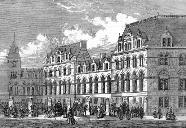 The new terminus station of the Great Eastern Railway, Liverpool Street, City