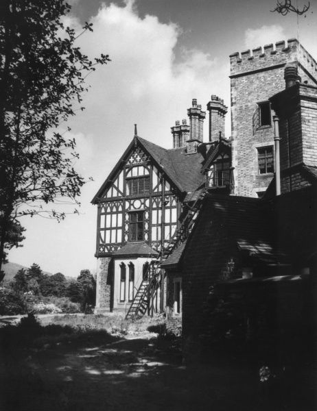 The picturesque Youth Hostel at Llangollen, Denbighshire, Wales. Date: 1930s