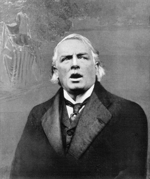 DAVID LLOYD GEORGE British Prime Minister in America in 1920, singing the Battle Hymn of the Republic