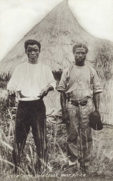 Local cooks at Accra, Ghana (Gold Coast), West Africa Date: circa 1910s