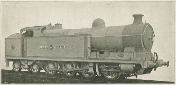 Locomotive no 1173 0-8-4 three cylinder simple shunting engine Date