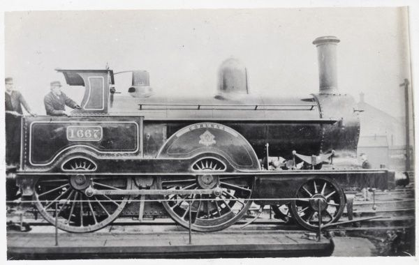 Locomotive no 1667 'Corunna' built in 1868 for the L&NWR Date: 1868
