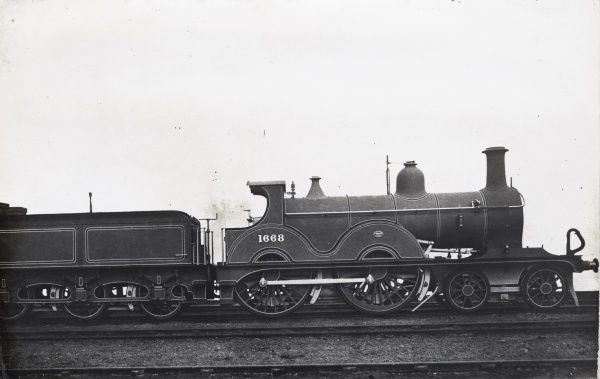 Locomotive no 1668 4-4-0 Date