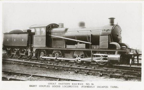 Locomotive no 20 eight coupled goods locomotive (formerly decapod tank) Date